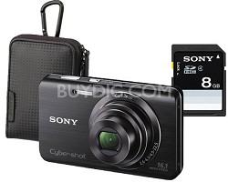 Cyber-shot DSC-W650 16.1 MP Compact Digital Camera Kit w/ Sony Case and 8GB Card