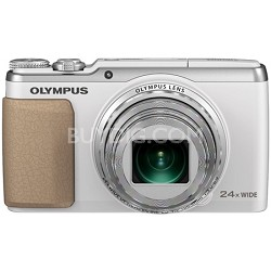 Stylus SH-50 iHS 16MP 24x Wide / 48x SR Zoom 1080p HD Digital Camera - White