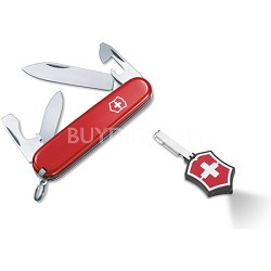 Red Recruit Pocket Knife / Microlite LED Combo Set