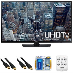 UN40JU6400 - 40-Inch 4K Ultra HD Smart LED HDTV + Hookup Kit
