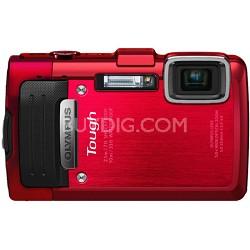 TG-830 iHS STYLUS Tough 16 MP 1080p HD Digital Camera - Red