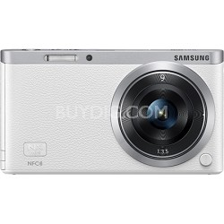 NX Mini Mirrorless Digital Camera with 9mm Lens - White - OPEN BOX