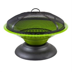 La Hacienda Moda Enameled Fire Pit in Lime - 58170US