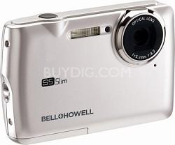 S5 Slim 12.2 MP Silver Digital Camera w/ 5X Zoom, 2.7 Inch LCD