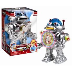 Atom 7 Robot - Walks, Talks, Shoots Discs, Light-Up Spinner