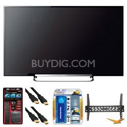 "KDL-60R550A 60"" 120Hz 3D WiFi 1080p LED HDTV Wall Mount Bundle"
