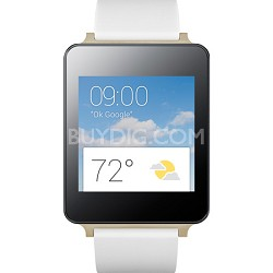 Android Wear Water and Dust Resistant White Smart G Watch