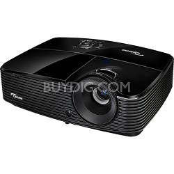 Full 3D XGA 3000 Lumen DLP Data Projector with Digital and Analog Connectivity