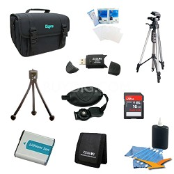 Tripod and NP-FM500 Battery Value Kit for Sony Alpha SLT-A57K, SLT-A77V, a65