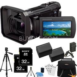 HDR-PJ650V 32GB Full HD Camcorder 20.4 MP stills w/ Projector Essentials Bundle