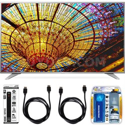 65UH6550 65-Inch 4K UHD Smart TV w/ webOS 3.0 Accessory Bundle