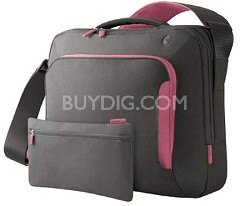 F8N076-SGF-DL 15-Inch Energy Collection Messenger Bag Gray/Flamingo Pink