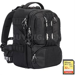 ANVIL 17 Photo DSLR Camera and Laptop Backpack (Black) + 32GB Memory Card