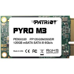 Pyro M3 120GB mSATA Internal Solid State Hard Drive