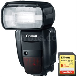 Speedlite 600EX-RT Professional Camera Flash with Lexar 64GB Memory Card