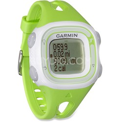 Forerunner 10 GPS Enabled Running Watch with Virtual Pacer (Green/White)