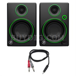 "CR Series 3"" Creative Reference Multimedia Monitors (Pair) w/ Cable"