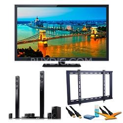 """47"""" TC-L47ET5 VIERA Class ET5 3D LED Black Flat Panel HDTV Speaker Bundle"""