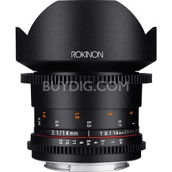 DS 14mm T3.1 Full Frame Ultra Wide Angle Cine Lens for Micro Four Thirds Mount