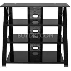 Cruise Highboy Black Glossy TV Stand for TVs 32-50 inches