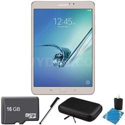 Galaxy Tab S2 8.0-inch Wi-Fi Tablet (Gold/32GB) 16GB MicroSD Card Bundle
