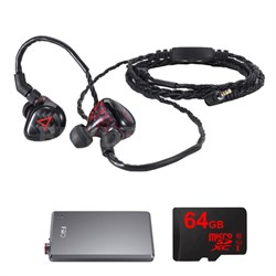 JH Audio Special Edition Angie Headphones, Red w/ FiiO E12 Pro Amps Bundle