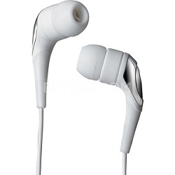 SX-31 Enhanced Bass Sound-Isolating Earbuds for iPod/iPhone/MP3 Player - White