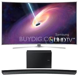 UN88JS9500 - 88-Inch Curved 4K 120hz SUHD 3D LED TV w/ HW-J8500 Soundbar Bundle
