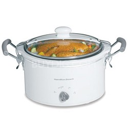 33144 - Stay-or-Go 4-Quart Slow Cooker, White
