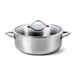 8-qt. Contemporary Stainless Dishwasher Safe Dutch Oven and Cover - 1767723