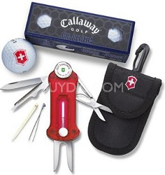 10-in-1 Golf Enthusiast Ultimate Golf Tools Set with Callaway Golf Balls