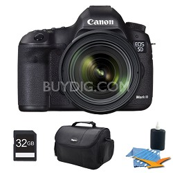 EOS 5D Mark III 22.3 MP Digital SLR Camera and 24-70mm f/4L IS Lens 32GB Bundle