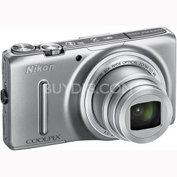 COOLPIX S9500 18.1 MP 22x Zoom Built-In Wi-Fi Digital Camera - Silver