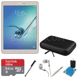 Galaxy Tab S2 9.7-inch Wi-Fi Tablet (Gold/32GB) 64GB MicroSD Card Bundle