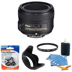 50mm f/1.8G AF-S NIKKOR Lens for Nikon Digital SLR Cameras USA w/ filter & accys