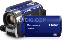 SDR-H80A Camcorder with 70X Zoom & 60GB HDD (Blue) - OPEN BOX