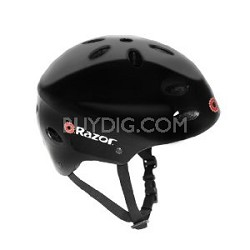 Razor V-17 Youth Multi-Sport Helmet (Black Gloss)