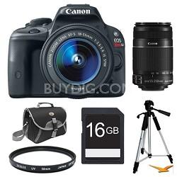 EOS Rebel SL1 SLR Digital Camera EFS 18-55 + 55-250STM Ultimate Rebel Experience