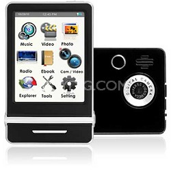 "E4 Series - 3"" Touch Screen MP3 Video Players 8GB w/ Digital Camera (Black)"