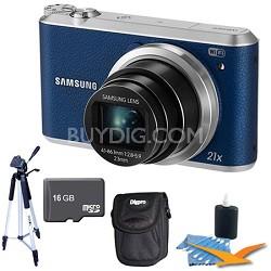 WB350 16.3MP 21x Opt Zoom Smart Camera Blue 16GB Kit