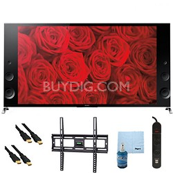 "65"" 120Hz 3D LED X900B Premium 4K Ultra HD TV Mount & HookUp Bundle - XBR65X900B"
