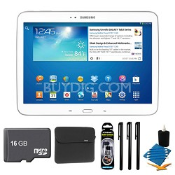 Galaxy Tab 3 (10.1-Inch, White) + 16GB Micro SDHC and More
