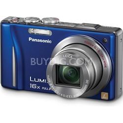 Lumix DMC-ZS10 14.1 MP Blue Camera w/16x Zoom & GPS