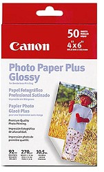 "Photo Paper Plus Glossy Borderless 4"" X 6"" - 50 Sheets"