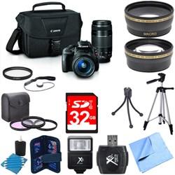 EOS Rebel SL1 Digital SLR w/ 18-55mm STM + 75-300mm f/4-5.6 III Lens Bundle