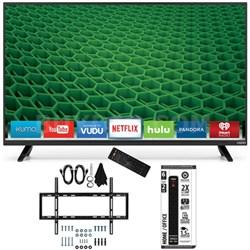 D48-D0 - D-Series 48-Inch Full-Array LED Smart TV Slim Flat Wall Mount Bundle