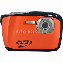 "Splash II 16MP Waterproof Digital Camera 2.5"" LCD HD Video (Orange)(WP16-O)"