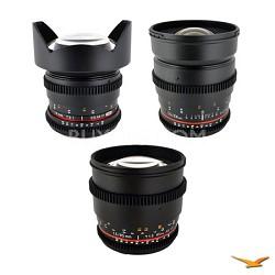 Sony E-Mount 3 Cine Lens Kit (14mm T3.1, 24mm T1.5, 85 mm T1.5)