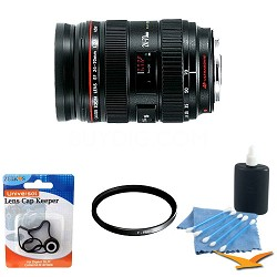 EF 24-70mm F2.8 L USM Lens w/ B+W UV Filter and Cleaning Kit