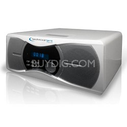 BLUET3W Powered Bluetooth Speakers White